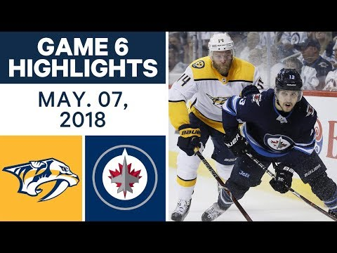 NHL Highlights | Predators vs. Jets, Game 6 - May 07, 2018