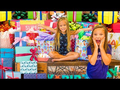 PEYTON 6th BIRTHDAY PRESENT OPENING with OLIVIA!