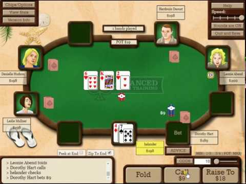 Poker Training Session With Advanced Poker Training 1#