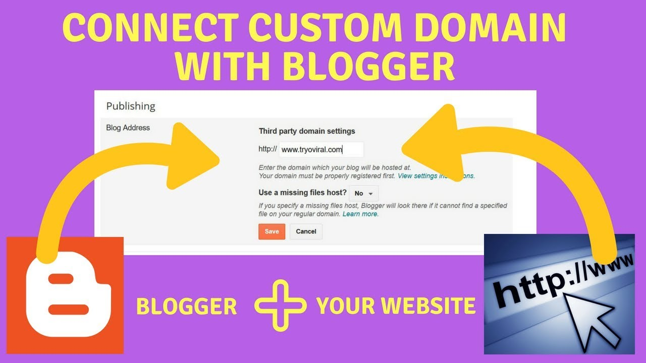 Connect Custom Domain With Blogger Blogspot Godaddy Step By Step
