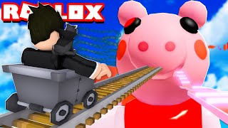 LOKIS NO TRENZINHO DO PORQUINHO PIGGY | Roblox - Piggy Cart Ride