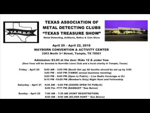 Michael Heim with the Texas Association of Metal Detecting Clubs