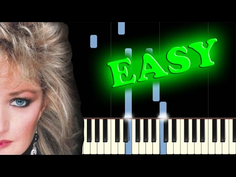 BONNIE TYLER - TOTAL ECLIPSE OF THE HEART - Easy Piano Tutorial