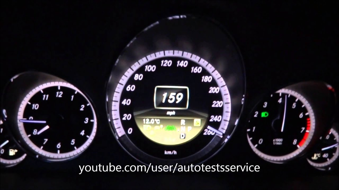 Mercedes E550 4matic Acceleration 0 60 Mph 100 150 159 Flatout Test You