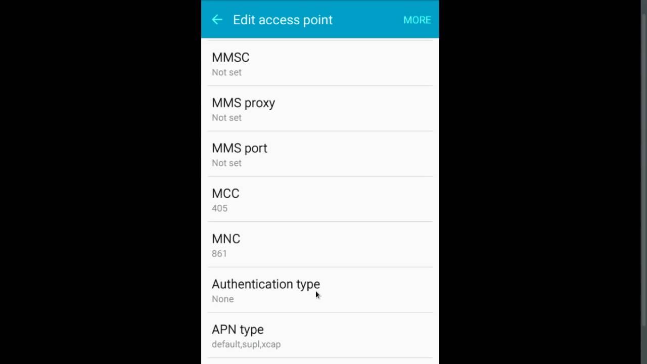 SAMSUNG Galaxy A8 Reliance Jio 4G LTE Sim VoLTE APN Settings