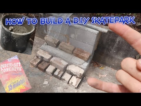 HOW TO BUILD A D.I.Y SKATEPARK *easiest way*