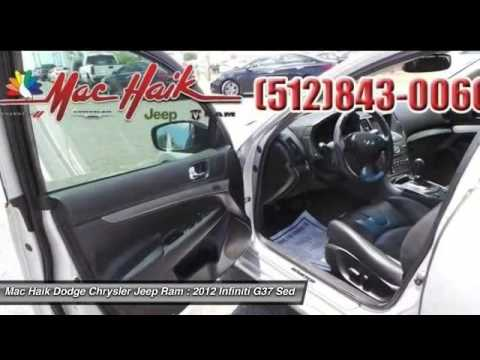 Mac Haik Dodge Temple Tx >> 2012 Infiniti G37 Sedan Temple TX B624872 - YouTube