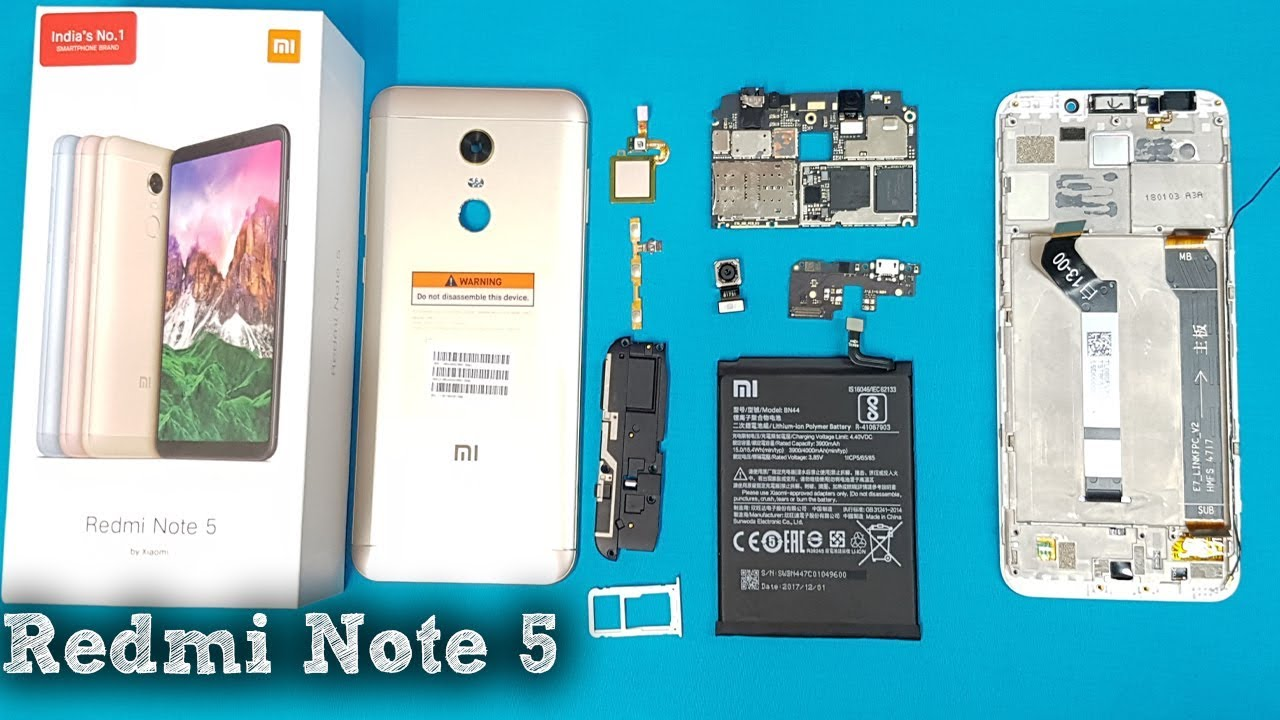 Xiaomi Redmi Note 5 Disassembly