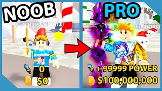 Noob To Pro! I Unlocked the GOD SWORD and Became TOO POWERFUL! - Roblox Slash Simulator
