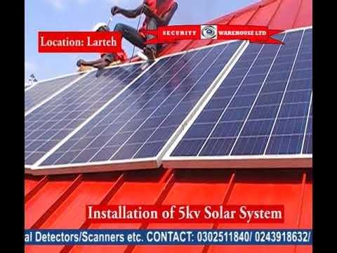 Lateh 5KV Solar Syatem Installation