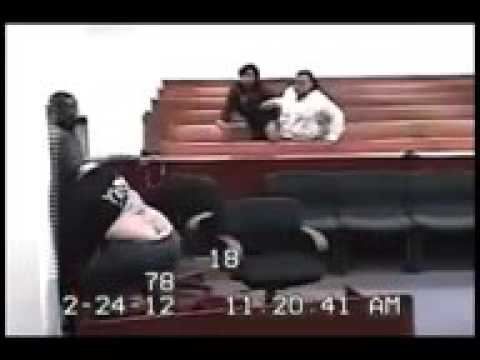 Court Room Fight In Muskegon,MI  2 Women Table Topping Courtroom Brawl!