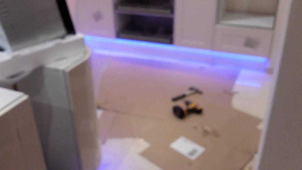 Kitchen Unit Led Lights Led Strip Lights Under Kitchen Units Youtube