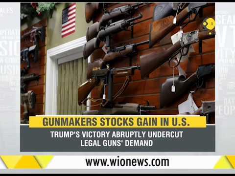 Gunmakers stocks gain in US