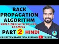 Back Propagation Algorithm (Part-2) Explained with Solved Example in Hindi