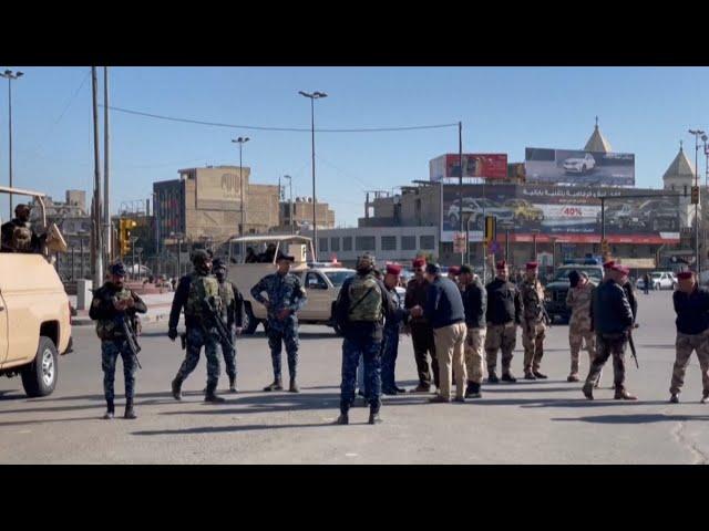انتشار أمني مكثف في مكان وقوع الانفجارات في العاصمة بغداد