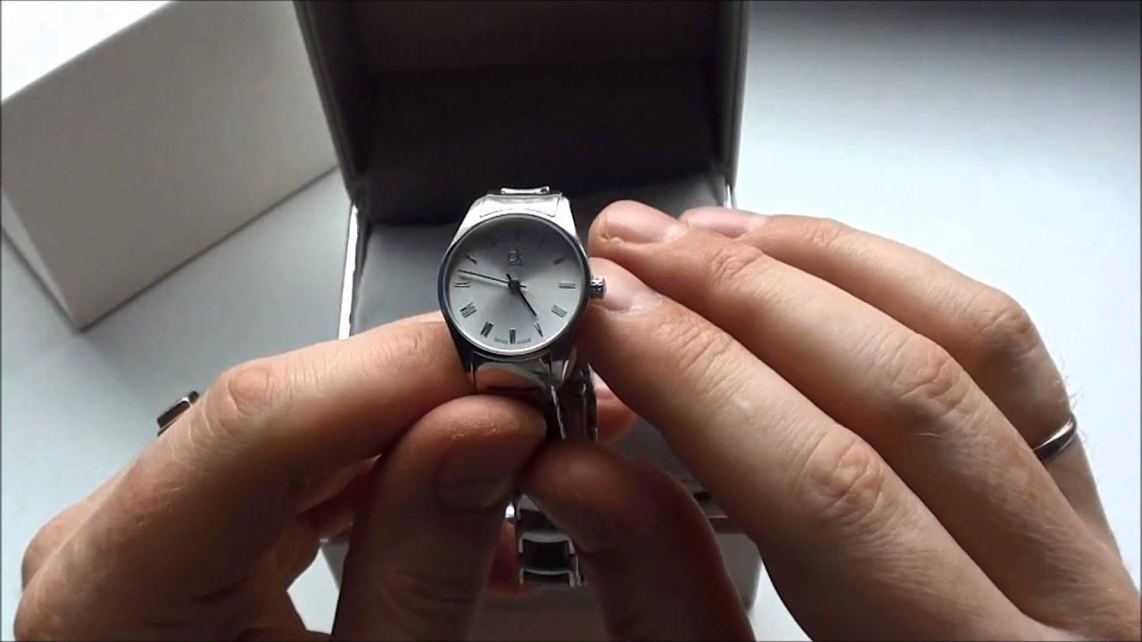 Обзор женских часов Calvin Klein.(K810.104.001) - YouTube