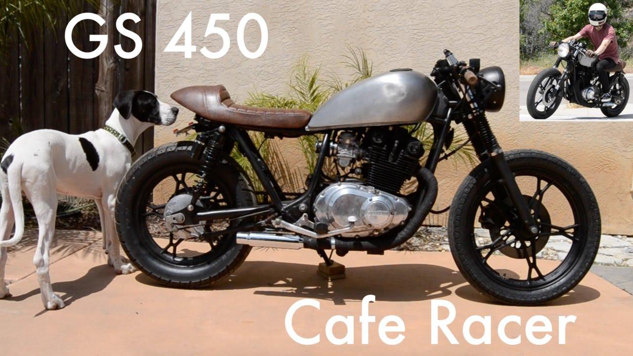 1987 suzuki gs450 cafe racer build - youtube