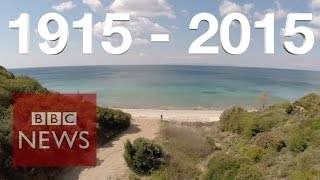 Gallipoli: Drone video of WWI battlefield - BBC News