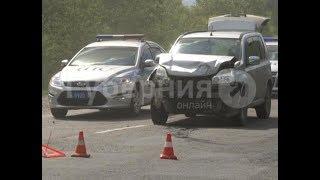 В машину ГИБДД в Хабаровске на полном ходу врезался автолюбитель из Комсомольска. MestoproTV