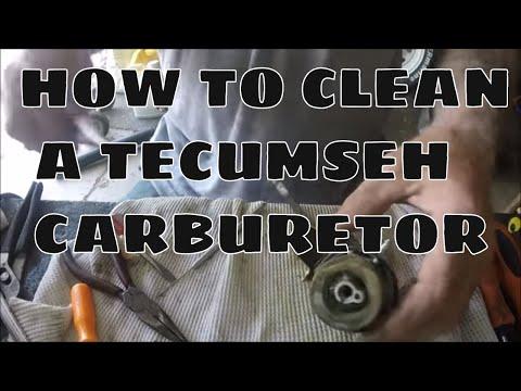 HOW TO CLEAN TECUMSEH SNOWBLOWER CARBURETOR