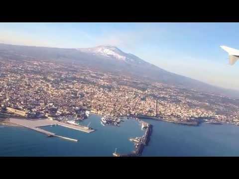 Decollo dall'aeroporto di Catania | vista Etna | Etna view from Catania