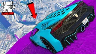 "BIGGEST RAMP EVER ""GTA STUNT RACING MAPS"" - GTA Online"