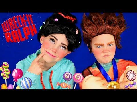 Disney Wreck it Ralph 2 Vanellope Von Schweetz and Wreck it Ralph Makeup and Costumes