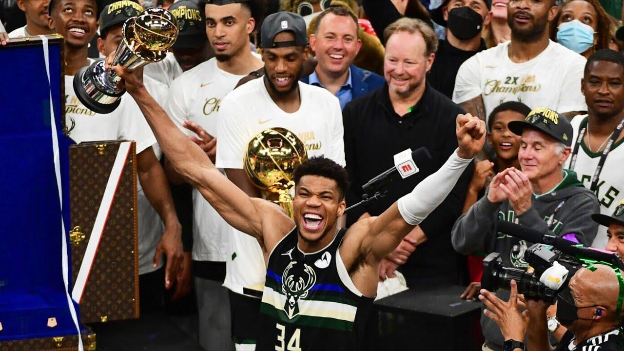 Giannis 50 Points! Wins 1st NBA Championship Finals MVP! 2021 Suns vs Bucks Game 6