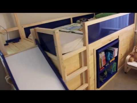 ikea hack kura bed with slide and secret room life hacks know your meme. Black Bedroom Furniture Sets. Home Design Ideas