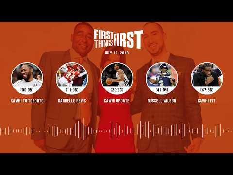 First Things First audio podcast(7.19.18) Cris Carter, Nick Wright, Jenna Wolfe | FIRST THINGS FIRST