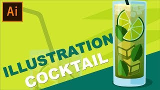 Cocktail Glass Vector Illustration | Adobe Illustrator Tutorial
