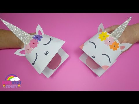 How to Make a Paper Unicorn Hand Puppet | Unicorn Crafts