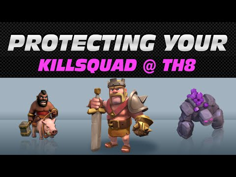 How to Lose ZERO Killsquad Troops During Your TH8 CC Kill & Entry
