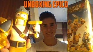 Unboxing Figura Rey Barbaro MUY EPICO - Clash of Clans Español