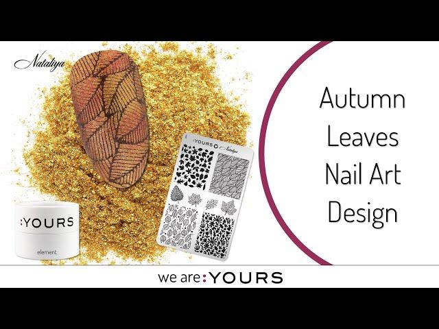 Autumn Leaves Nail Art Design