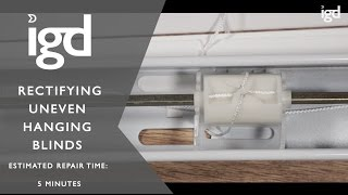 Wooden Blinds Direct: Rectifying uneven hanging blinds