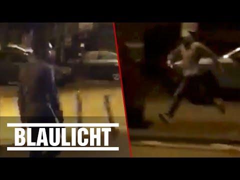 Unheimliche Schießerei - Wer kennt diesen irren Pistolen-Mann? Polizei sucht nach Zeugen