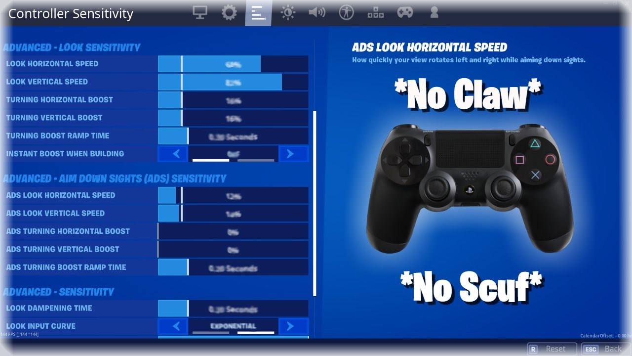 UPDATED* BEST Controller Settings for Non-Claw Players in Fortnite Chapter  2 (No Paddles) *2020* - YouTube