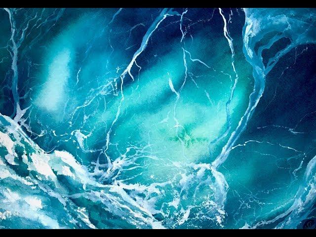 水彩繪畫教程中的海泡沫
