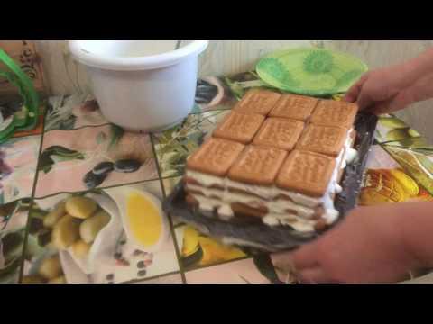 Банановый торт без