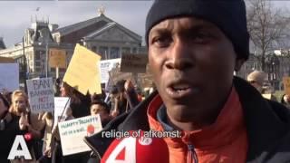 Anti-Trumpdemonstratie bij Amerikaans consulaat