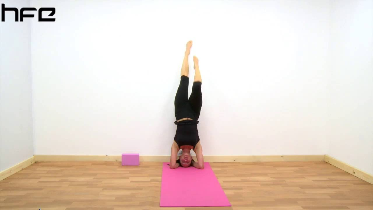 Yoga Poses Sirsasana Supported Head Stand Youtube