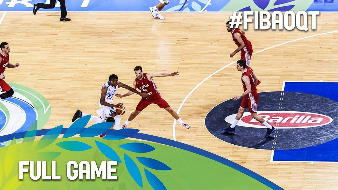 Greece v Croatia - Full Game - 2016 FIBA Olympic Qualifying Tournament