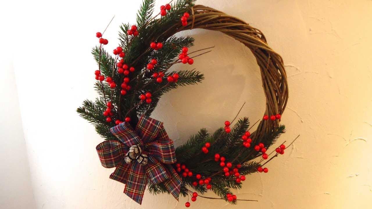 Ghirlanda natalizia fai da te decorazioni natalizie 2017 for Decorazioni natalizie fai da te
