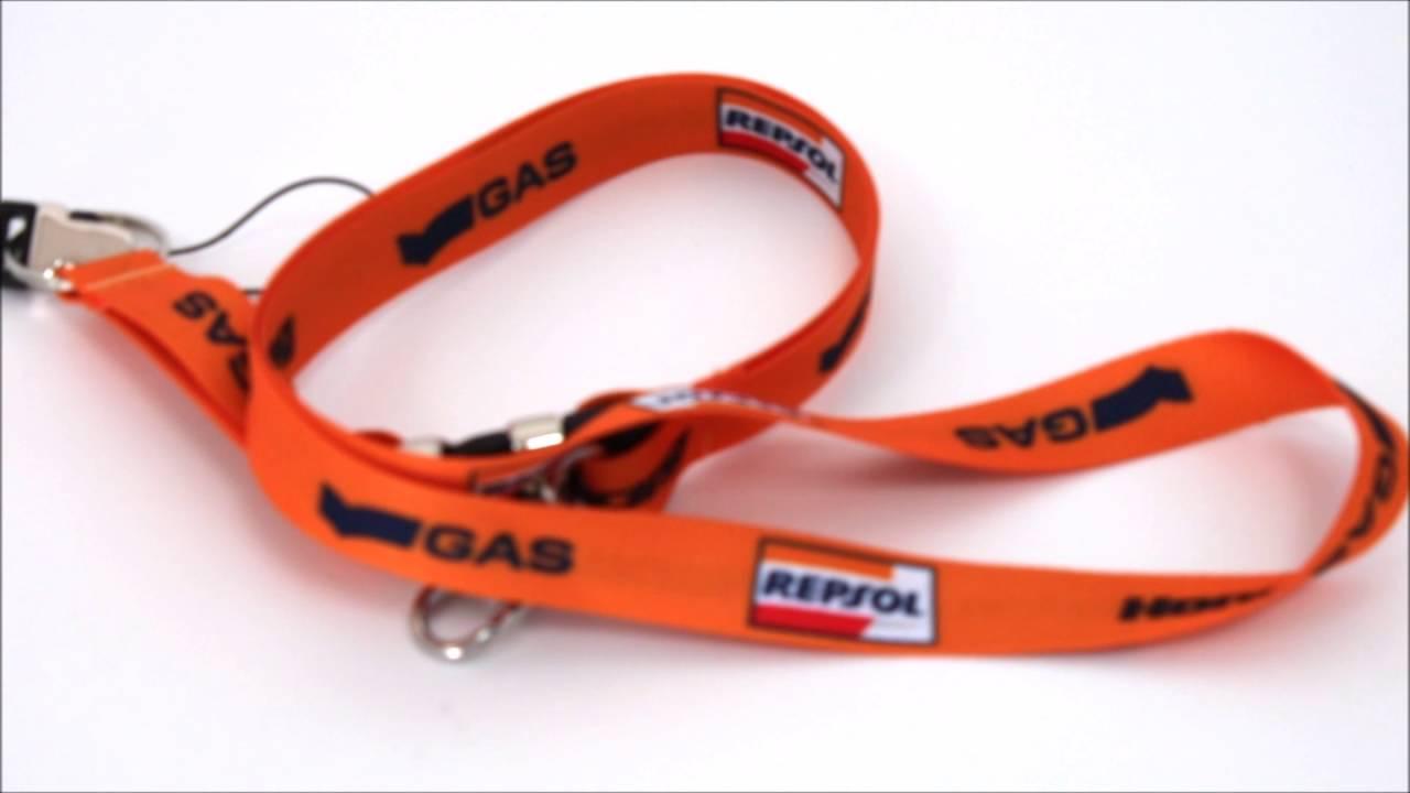 Lanyard Repsol Honda Hrc Gas Oficial Naranja Youtube