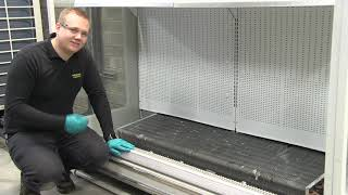 The Safe Range, three step solution, for preventing refrigeration drain blockages.