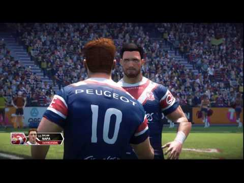 Rugby League Live 3 Xbox one Sydney Roosters v Ipswich part 1
