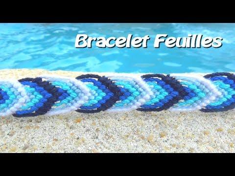 Tuto  Bracelet Brésilien motif feuille facile (débutants)