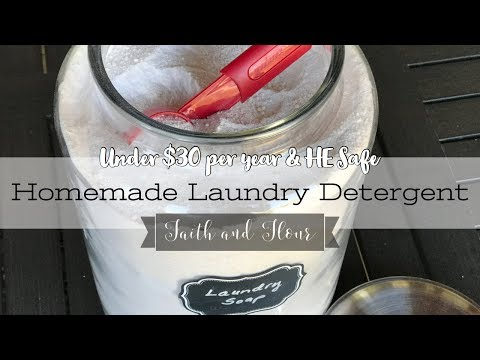 DIY HE Laundry Soap | How to Make Homemade Laundry Detergent for under $30 Per Year!