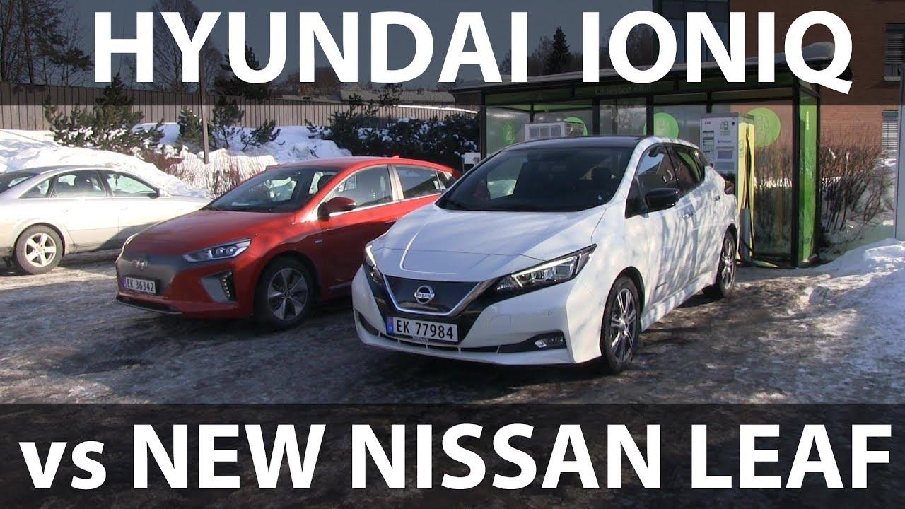 New Nissan Leaf vs Hyundai Ioniq road trip